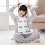 Kids Grey Totoro Onesie Kigurumi Pajamas Kids Animal Costumes for Unisex Children