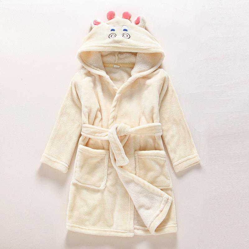 Kids Cattle Soft Bathrobe Sleepwear Comfortable Loungewear