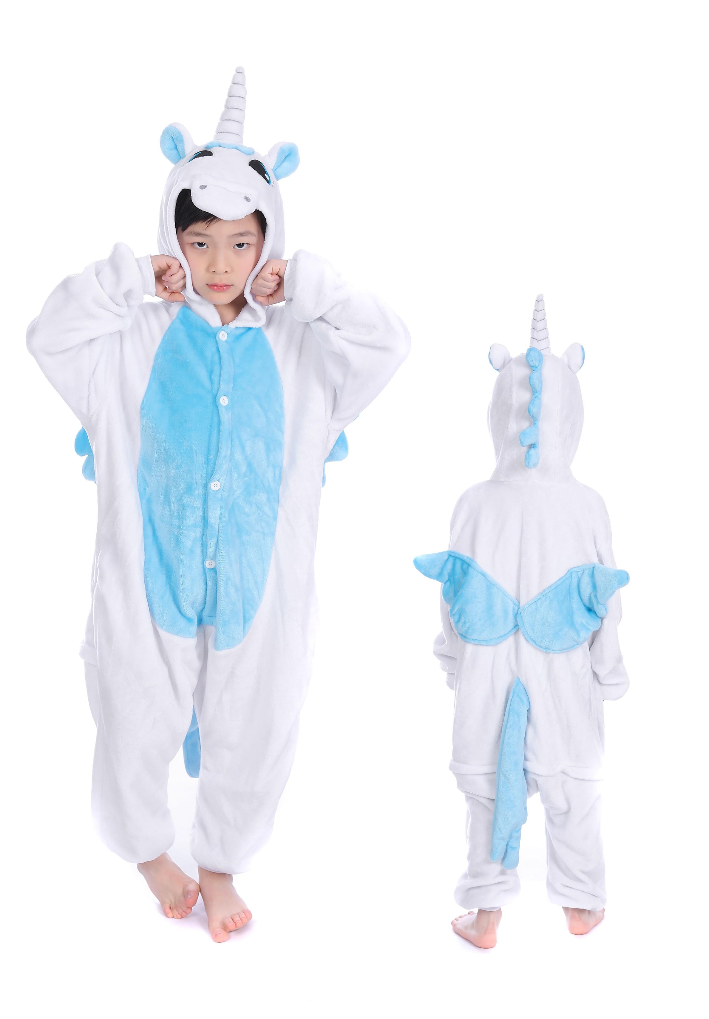 Kids Unicorn Onesie Kigurumi Pajamas Kids Animal Costumes for Unisex Children