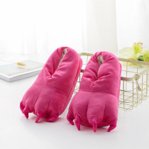 Cozy Pink Flannel House Monster Slippers Halloween Animal Costume Paw Claw Shoes