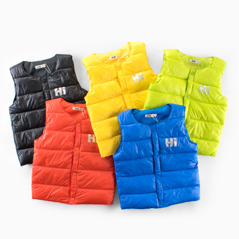 Toddler Boys Lightweight Warm Cotton Padded Puff Vests