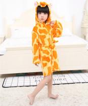Kids Giraffe Soft Bathrobe Sleepwear Comfortable Loungewear
