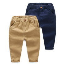 Navy Simple Toddler Boys Pure Color Cotton Pants