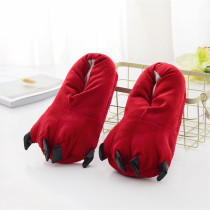 Cozy Red Flannel House Monster Slippers Halloween Animal Costume Paw Claw Shoes