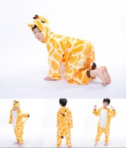 Kids Yellow Giraffe Onesie Kigurumi Pajamas Kids Animal Costumes for Unisex Children