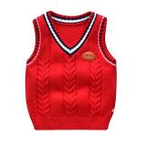 Toddler Boys Cable Knit Pullover Vest V Neck Sweater