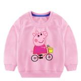 Toddler Girl Print Pink Pig Long Sleeve Sweatshirt
