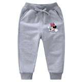 Simple Toddler Girl Print Minnie Jogger Cotton Pants