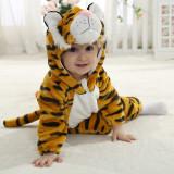 Baby Yellow Tiger Onesie Kigurumi Pajamas Kids Animal Costumes for Unisex Baby