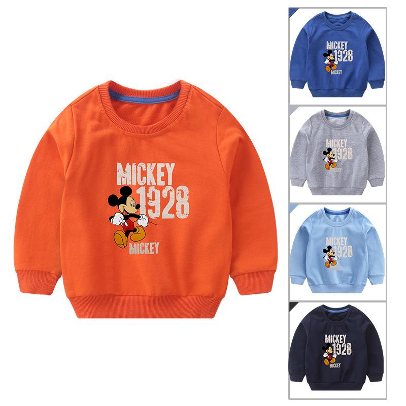 Toddler Boy Print Cartoon Mickey Long Sleeve Sweatshirt