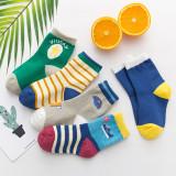 5 Pairs Baby Toddler Boy Print Socks