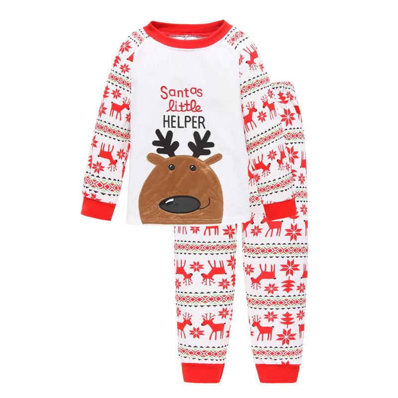 Toddler Girl 2 Pieces Pajamas Sleepwear Christmas Long Sleeve Shirt & Leggings Set