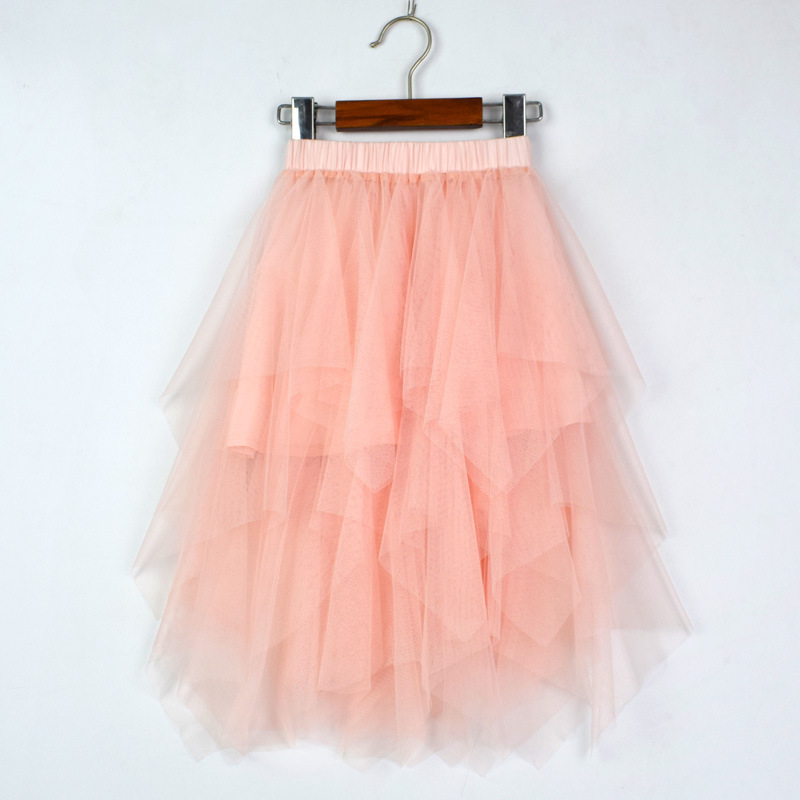 Toddler Girl Pink Tutu Tulle Skirt Princess Fluffy Pettiskirt