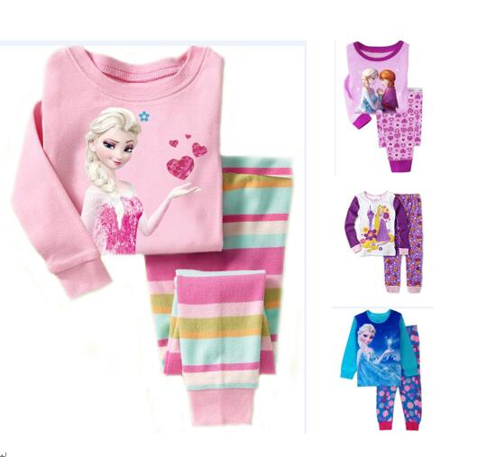 Toddler Girl 2 Pieces Pajamas Sleepwear Frozen Long Sleeve Shirt & Leggings Set