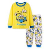 Toddler Boy 2 Pieces Pajamas Sleepwear Minions Long Sleeve Shirt & Leggings Set