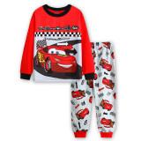 Toddler Boys 2 Pieces Pajamas Sleepwear CARS Long Sleeve Shirt & Leggings Set
