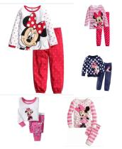 Toddler Girl 2 Pieces Pajamas Sleepwear Minnie Long Sleeve Shirt & Leggings Set