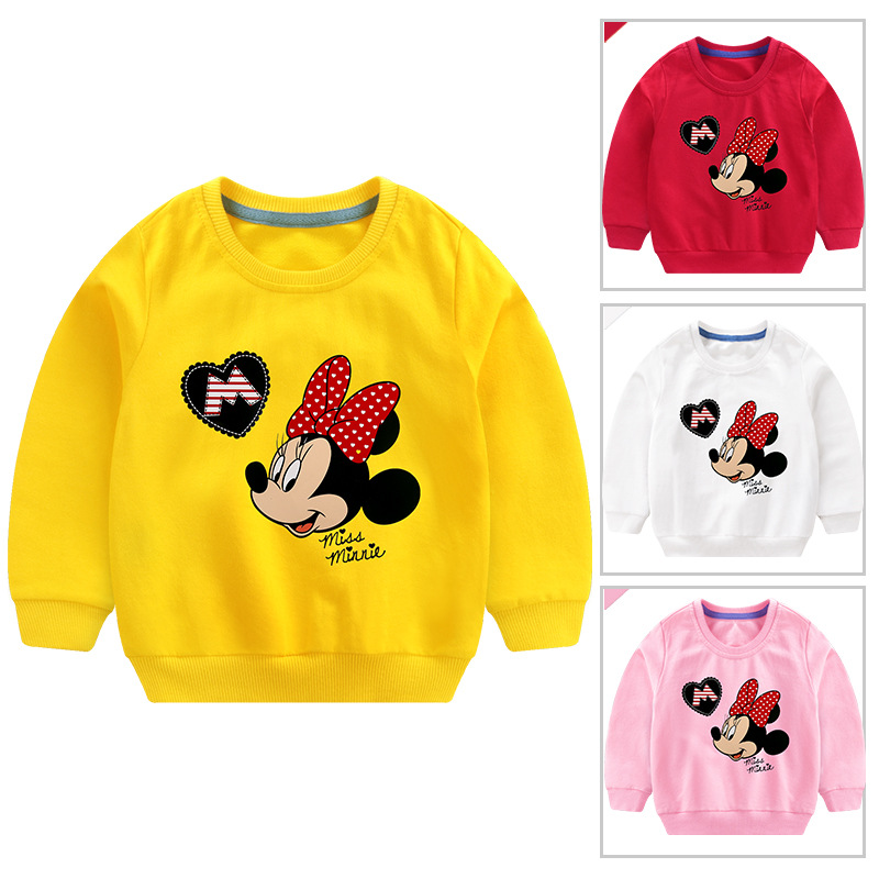 Toddler Girl Print and Slogan Minnie Long Sleeve Sweatshirt