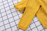 Toddler Girl Knit Cardigan Pure Color Sweater Dog Pattern