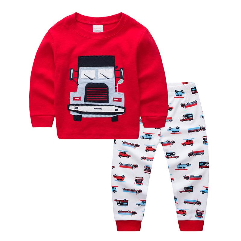 Toddler Boy 2 Pieces Pajamas Sleepwear Cars Long Sleeve Shirt & Legging Sets