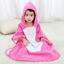 Baby Dinosaur Face Hooded Bathrobe Towel Bathrobe Cloak Size 28 *55