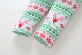 4PCS Baby Girl Christmas Long Sleeve Romper Pants Bodysuit Hat Headband Clothes Outfits Set