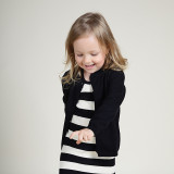 Toddler Girl Knit Cardigan Pure Color Thin Sweater