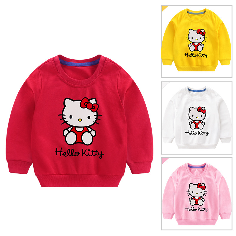 Toddler Girl Print and Slogan Hello Kitty Long Sleeve Sweatshirt