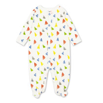 Baby Boy Print Color Triangles Sleepwear Cotton Infant One-piece(0-1Year)