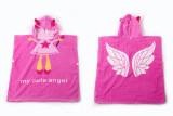 Baby Pink Angel Face Hooded Bathrobe Towel Bathrobe Cloak