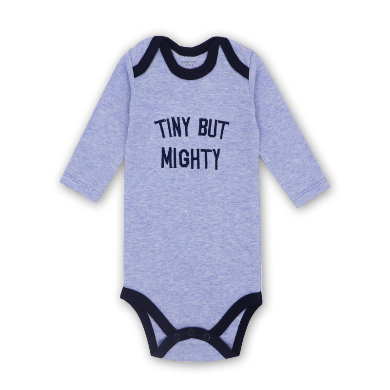 Baby Girl Purple Print Slogan Long Sleeve Cotton Bodysuit