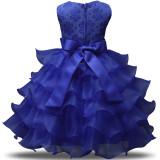 Flower Girl Party Dress 3D Flowers Ruffles Lace Princess Wedding Dresses