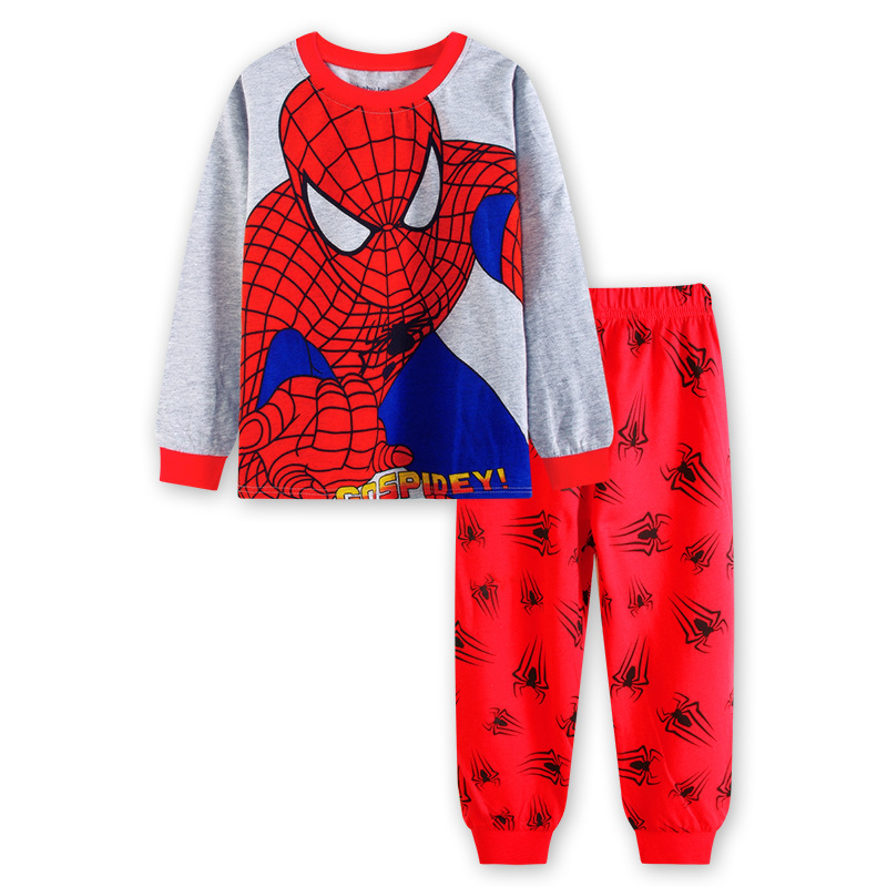 Toddler Boy 2 Pieces Pajamas Sleepwear Spider Man Long Sleeve Shirt & Legging Sets