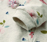 Toddler Girl Flowers Long Sleeve Sweatshirt