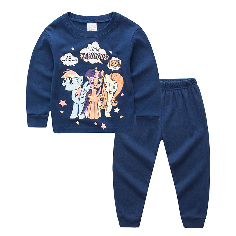 Toddler Girl 2 Pieces Pajamas Sleepwear My Little Pony Long Sleeve Shirt & Legging Sets