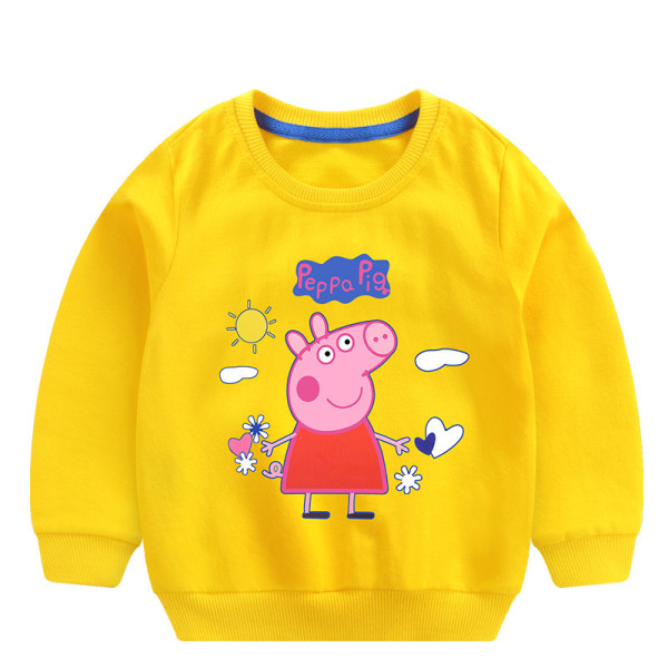 Toddler Girl Print and Slogan Pink Pig Long Sleeve Sweatshirt