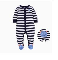 Baby Boy Snap-Up Monsters Footed Cotton Long Sleeve One piece (0-1Years)
