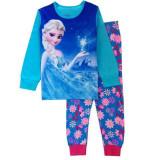 Toddler Girl 2 Pieces Pajamas Sleepwear Frozen Long Sleeve Shirt & Leggings Set