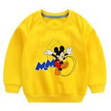 Toddler Boy Print Mickey Letter M Long Sleeve Sweatshirt