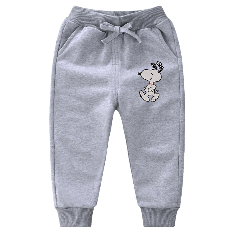 Simple Toddler Boy Print Snoopy Jogger Cotton Pants