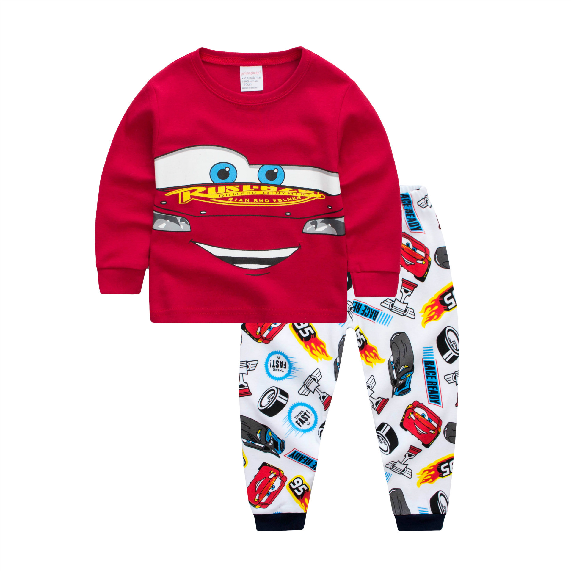 Toddler Boy 2 Pieces Pajamas Sleepwear CARS Long Sleeve Shirt & Legging Sets