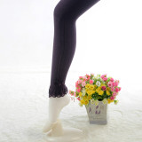 Baby Toddler Girls Tights Bowknot and Lace Ruffles Pantyhose Cotton Warm Leggings Stockings