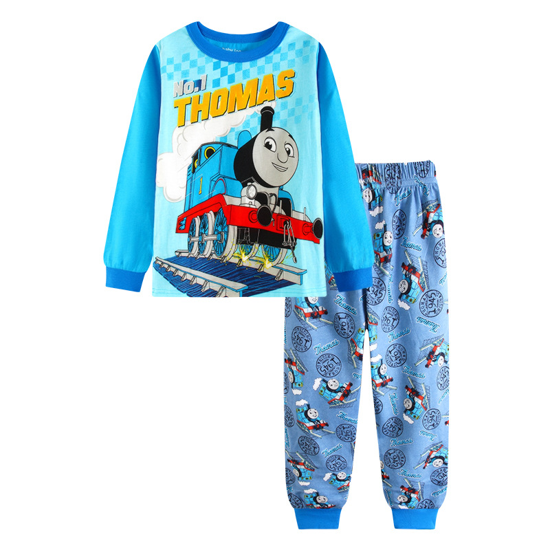 Toddler Boy 2 Pieces Pajamas Sleepwear Thomas Long Sleeve Shirt & Leggings Set