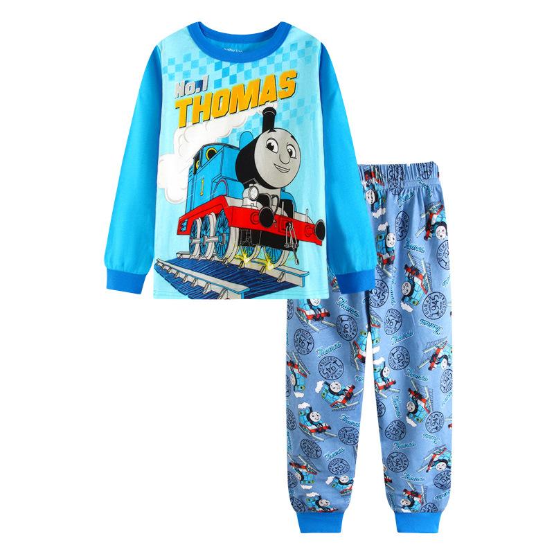 Toddler Boy 2 Pieces Pajamas Sleepwear Thomas Long Sleeve Shirt & Leggings Set