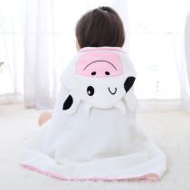 Baby White Cow Face Hooded Bathrobe Towel Bathrobe Cloak Size 28 *55