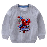 Toddler Boy Print Spider MAN Long Sleeve Sweatshirt