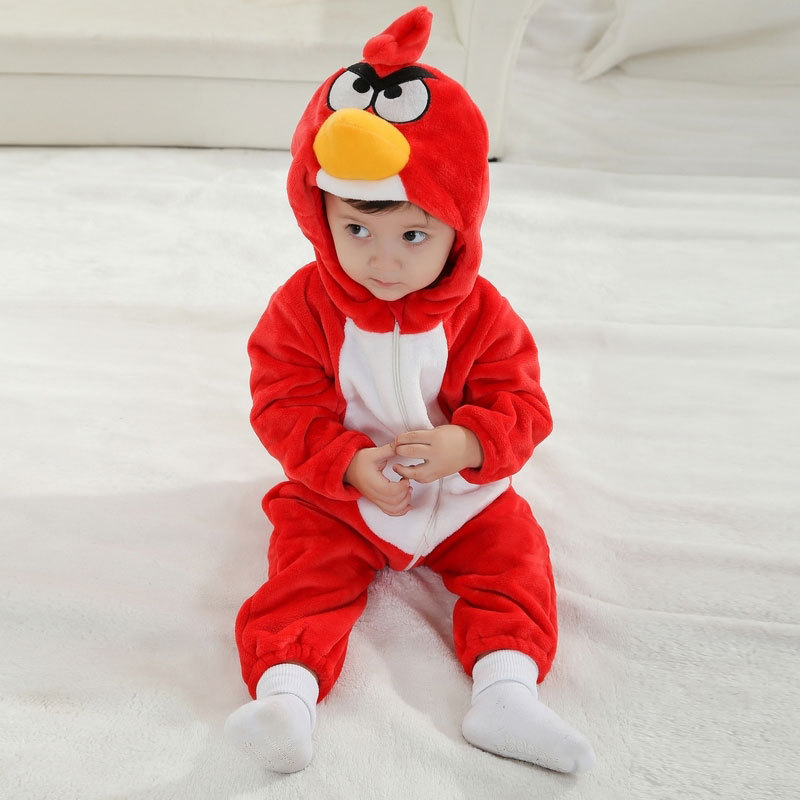 Baby Red Angry Bird Onesie Kigurumi Pajamas Kids Animal Costumes for Unisex Baby