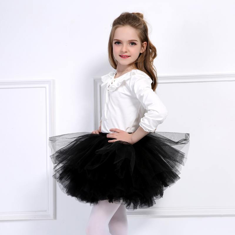 Toddler Girl 6-Layered Tulle Tutu Skirt Princess Fluffy Soft Chiffon Pettiskirt