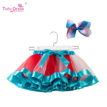 Toddler Girl Interval Color Layered Tulle Tutu Skirt Add Free Bow Clip