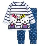 Toddler Girl 2 Pieces Pajamas Sleepwear Hello Kitty Long Sleeve Shirt & Leggings Set